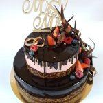 Mr&Mrs esküvői torta